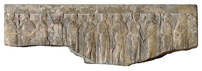 799px-Greek_-_Procession_of_Twelve_Gods_and_Goddesses_-_Walters_2340